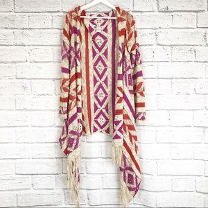 💫American Rag Boho Tribal Design Women's Cardigan